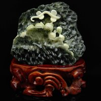 Wenchang tower worth collecting hand-carved Taiwan jade south China 14.1 cm