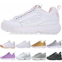 nuevos modelos de zapatillas de correr al por mayor-FILA running shoes ladies high quality black white beach sneakers men's documents special models casual sports shoes raised casual Zapatos running shoes