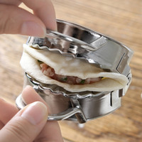 Wholesale kneading tool for sale - Group buy automatic stainless steel dumpling maker home dumpling mould kitchen gadget kneading dumpling making tools