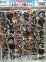 ropa japonesa niños al por mayor-Nuevo 48pcs / set anime japonés My Hero Academia Pin Insignias, broche redondo Insignia Niños Ropa Accesorios 4.5 cm A - 28