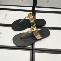 süs sandalları toptan satış-Gelgit Harf Süsleme Çift Terlikler Moda Gerçek Deri Lover Marka Terlik Açık Sokak Stili Erkekler Kadınlar Tasarım Sandalet