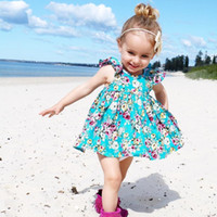 Wholesale european style baby clothes online - Newborn Baby Girls Clothes Set Floral Spring Long Sleeve Bodysuit Tops Jumpsuit Tutu Skirts Costume Suit Outfis Clothing OutfitToddler Infan