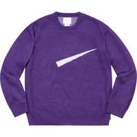jersey de punto para hombres al por mayor-19SS Box Logo Conjunto suéter de punto Sudadera clásica de color puro Jersey de calle a juego Moda Hombre Mujer Suéter HFHLWY009