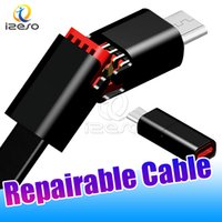 Wholesale phone repairs for resale online - Repairable Data Cable m ft Quick Repair Puncture Line for Samsung Huawei Android Mobile Phone Durable Type C Fast Charging Cord izeso