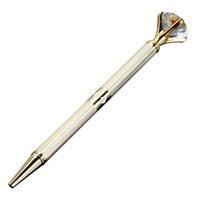 stylo bille dhl achat en gros de-La dernière version de la Da Carat Diamant Cristal Stylo Gem Stylo À Bille De Mariage Fournitures de Bureau De Bague En Métal Anneau Stylo À Bille Free DHL