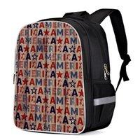amerikanische schultaschen großhandel-American Flag Mehrzweck-Tagesrucksäcke College-Rucksäcke Schulbuchtaschen Business-Tagesrucksack Computer-Tasche Rucksack-Tasche Scratch
