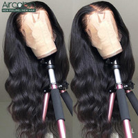 Wholesale 32 inch human hair wigs for sale - Group buy Aircabin x6 lace Frontal Wigs Brazilian Body Wave Human Hair Inch Wigs x4 Density For Black Women Remy Hair