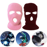 Wholesale bike head mask resale online - Outdoor Balaclavas Full Face Cover Mask Cool Knitted Beanies For Men Head Neck Balaclava Cycling Bike Caps Cycling Equipment