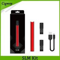 indicador de batería de cigarrillo al por mayor-SLM Starter Kit e Cigarette 250mAh Batería 0.8ml Dos cartuchos accionados por aire Indicador LED inteligente Kits de vapeo Vs Infinix Kit