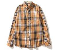 ingrosso migliori giacche da uomo-La camicia a maniche lunghe da uomo e donna di design a maniche lunghe da uomo e da donna della moda plaid kanye moda retrò Harajuku street casual giacca M-2XL