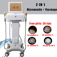 Wholesale micro needle treatment for sale - Group buy Professional Fractional RF skin rejuvenation face lifting micro needle acne treatment device fractional rf microneedle machine