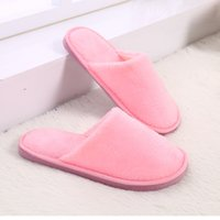 Wholesale wooden shoes slippers resale online - Women s shoes Home slippers Couple New plush indoor home winter wooden floor non slip warm mute EVA cotton