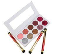nötr paleti toptan satış-En kaliteli boş etiket 10 renk göz farı özel mat sedefli göz glitter kombinasyonu nötr göz farı paleti hiçbir logo