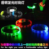 renkli halkalar toptan satış-LED Ayak Halka Işıkları Beş Sivri Yıldız Gece Koşu Güvenlik Uyarı Lambası Bisiklet Şeffaf Plastik Renkli Handring Lambaları 5 cmD1