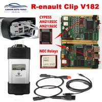 Wholesale can clip diagnostic interface for sale - Group buy 2018 Best Gold chip R enault Can Clip V182 v178 full chip Multi Languages Diagnostic tools OBD II Car canClip Interface