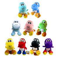 Wholesale animals for sale - Group buy Mario Bros New yoshi Plush Toys yoshi Dinosaur Stuffed Animals Doll Pendants Figure Toys colors