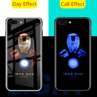 Wholesale phone lights call resale online - Call Light LED Flash Phone Cases For iPhone XR XS Case for iphone Marvel Avengers Spiderman Venom Cover Tempered Glass