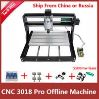 mini cnc roteadores venda por atacado-CNC 3018 PRO DIY Mini Máquina CNC com Controlador Off-line GRBL Control, Fresadora de 3 Eixos Pcb, Router a madeira Gravura a Laser