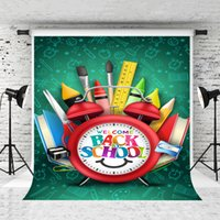 Dream 5x7ft Welcome Back to School Backdrop Learning Tool Alarm Clock Photography Background for Children School Theme Party Shoot Studio