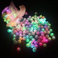 ingrosso palloncini bianchi giallo rosa-100 pz / lotto palla rotonda led palloncino luci mini lampade flash per lanterna natale decorazione della festa nuziale bianco, giallo, rosa SH190723