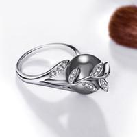 b2ff18b8c14b ashion Juegos de joyas Pendientes Dropshipping juegos de anillos Color  blanco Cristal de perla gris Lotes de hojas al por mayor de tendencia  Gancho para ...