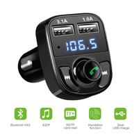 carregador de carro 4.1a venda por atacado-Onever multifuncional sem fio Dual USB Car Kit Bluetooth MP3 Player Mãos livres FM transmissor modulador Car Charger 4.1A USB