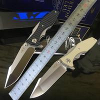 cuchillos de caza de acero d2 al por mayor-TOLERANCIA CERO 0393 ZT0393 HINDERER KVT D2 ACERO G10 MANGO de caza Cuchillo plegable de supervivencia para acampar cuchillos de bolsillo