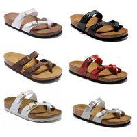 Wholesale sale beach sandals for sale - Group buy Sale Mayari Arizona Gizeh summer Men Women flats sandals Cork slippers unisex casual shoes print mixed colors Fashion Flats size34