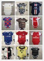 camiseta de fútbol bebé al por mayor-19 20 Real Madrid bebé camisetas de fútbol Ajax México américa Messi juego de salto Triángulo subida de la ropa pedro Bayern jerseys Unidos PSG bebé