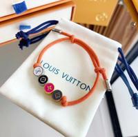 Wholesale monogram alloy resale online - 2019 New designer bracelet with nature flower rope bracelet charm bracelet monogram for women and mother gift jewelry