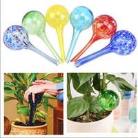 grüne gartengeräte großhandel-Automatische Glas Waterer Bulb Anlage Automatische Bewässerung Ball Gartenblume Zimmerpflanze Grün Topfpflanzen Glas Garten Bewässerung Werkzeuge AAA1466