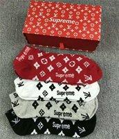 дезодорант оптовых-Новое поступление вышивка мужские носки антибактериальные дезодорант хлопок мода печать унисекс носки высокое качество спортивные носки 4 пары / 8 шт.