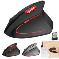 wireless gaming maus spiel großhandel-T24 2400DPI Wireless-Vertikal-Gaming-Maus 2,4 GHz Spiel ergonomisches Design USB optische Maus drahtlose für Laptop-PC
