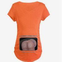 ingrosso donne incinte casual-Carino estate incinta maternità T-Shirt manica corta vestiti casual gravidanza divertente per le donne in gravidanza Marternity Abbigliamento Tees Top