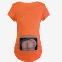 t-shirts enceintes drôles achat en gros de-D'été Mignon De Grossesse D'été T-shirts À Manches Courtes Vêtements De Grossesse Casual Drôle Pour Les Femmes Enceintes Marternity Vêtements Tees