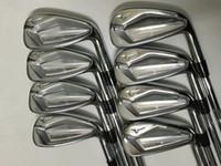 ferros ajustados da esquerda venda por atacado-Presente livre SM 7 Wedge + O Mais Recente Modelo de Clubes de Golfe JPX 919 Forjado Ferros De Golfe 8 Tipo Eixo Rápido grátis