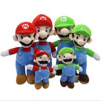 mario kardeşler toptan satış-Süper Mario Peluş bebek mantar bebek Mario kardeşler peluş oyuncak Louis peluş bebek, DHL tarafından sevk