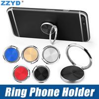 ingrosso porta anelli a mano-ZZYD Supporto per telefono universale Supporto per cavalletto per dito Rotazione a 360 ° Supporto metallico per impugnatura in metallo per iPhone 8 X Samsung Galaxy s10 s9
