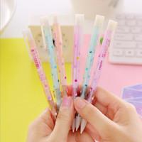 points de couleur en plastique achat en gros de-Crayon mécanique de beaux points 0.5 / 0.7mm avec le crayon automatique de couleur de sucrerie de gomme en plastique pour la papeterie coréenne d'enfants
