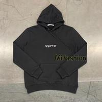 hoodies encapuzados de lã venda por atacado-2020 grife Outono Inverno Europa Paris luxo bordados Moda homens encapuzados logotipo tricô de lã camisola Mulheres Hoodies