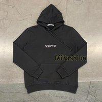 yün kukuletalı hoodies toptan satış-2020 marka tasarımcısı Sonbahar Kış Avrupa Paris lüks nakış Moda Erkekler Kapşonlu örgü yün logosu Kazak Kadınlar Kapüşonlular