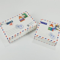 desenhos de caixas de bolo de casamento venda por atacado-Caixas de Bolo de Design de envelope Maccaron Baking Package Kraft Paper Candy Cookies Caixa de Presente para a Festa de Aniversário de Casamento LX7985