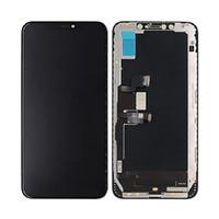 iphone ekran inç toptan satış-IPhone Için X XS OLED XS Max LCD Yedek 3D Dokunmatik Ekran Digitizer Tam Meclisi LCD Ekran Siyah Renk 5.8 inç Ücretsiz DHL Kargo