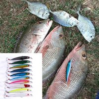 Wholesale minnow lure 9cm for sale - Group buy HENGJIA colors Minnow fishing lure Artificia Floating bait Plastic Hard Bait cm g with Feather Treble hook lifelike D Eyes