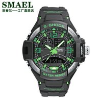 cd70f1422ed6 Reloj deportivo Hombres Ejército SMAEL Reloj negro S Shock Relogio  masculino Relojes de cuarzo Militar Hombre 1516 Reloj deportivo a prueba de  agua
