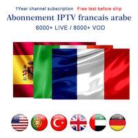 ingrosso android tv box 32gb-Abbonamento IPTV 6000+ Live 8000+ VOD Abonnement IPTV Italia Portogallo Spagna Arabo Francia IPTV USA Canada Regno Unito per MAG322 Android Box Smart TV