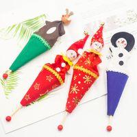ingrosso vecchie pistole giocattolo-4 pezzi Ornamento di Natale Cartone animato Pistola Barile Vecchio Pupazzo di neve Barile Bambini Giocattoli di legno Natale