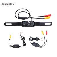 autos wireless nachtsicht parkmonitor großhandel-Harfey Auto Universal Wireless-Parken-Kamera für Rückwärts-Monitor-Unterstützungs 2.4G Wasserdicht 170-Grad-Nachtsicht-Kamera RearView