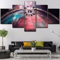 tela de pintura a óleo espacial venda por atacado-Filme interestelar espaço, 5 peças de lona cópias da arte da parede pintura a óleo de decoração para casa (sem moldura / moldado)