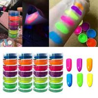 6Color Nail Glitter Powder Neon Pigment Gradient Glitter Iridescent Acrylic Nail Powder Polish Professional Decoration July26